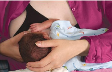 breastfeeding: a behind the scenes look, cross-cradle hold