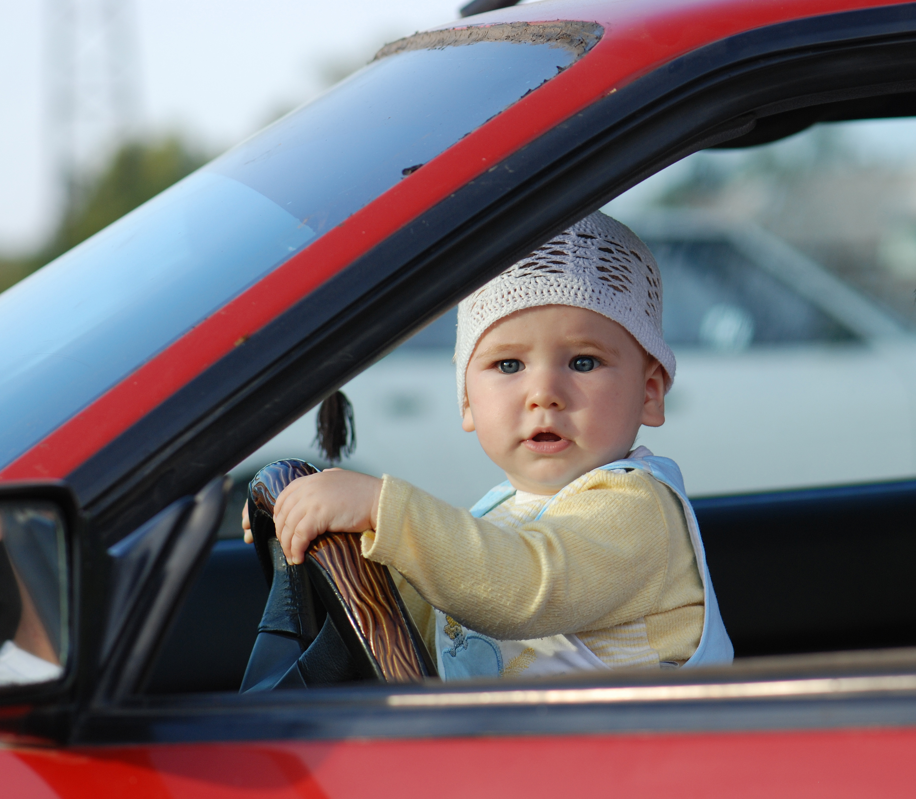 Baby Driving Car