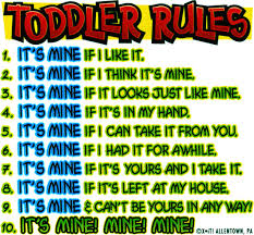 funny toddler rules