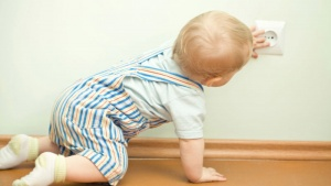 Sharp edges such as counter tops corners of a coffee table and shelves can pose a danger to children