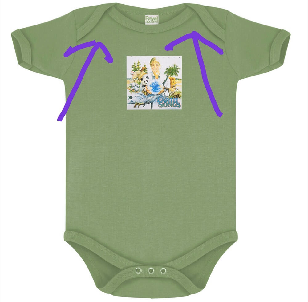 Did you know that those little folds on an infant onesie are actually so you can slip the whole thing over baby's shoulders and remove from the bottom
