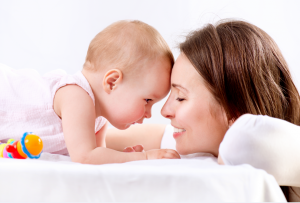 happy mother and baby, attunement parenting