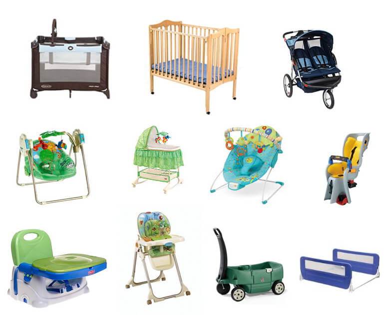 baby equipment, used baby items