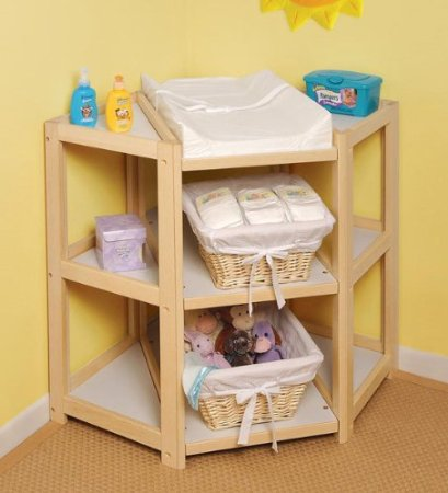 corner diaper changing station ideas