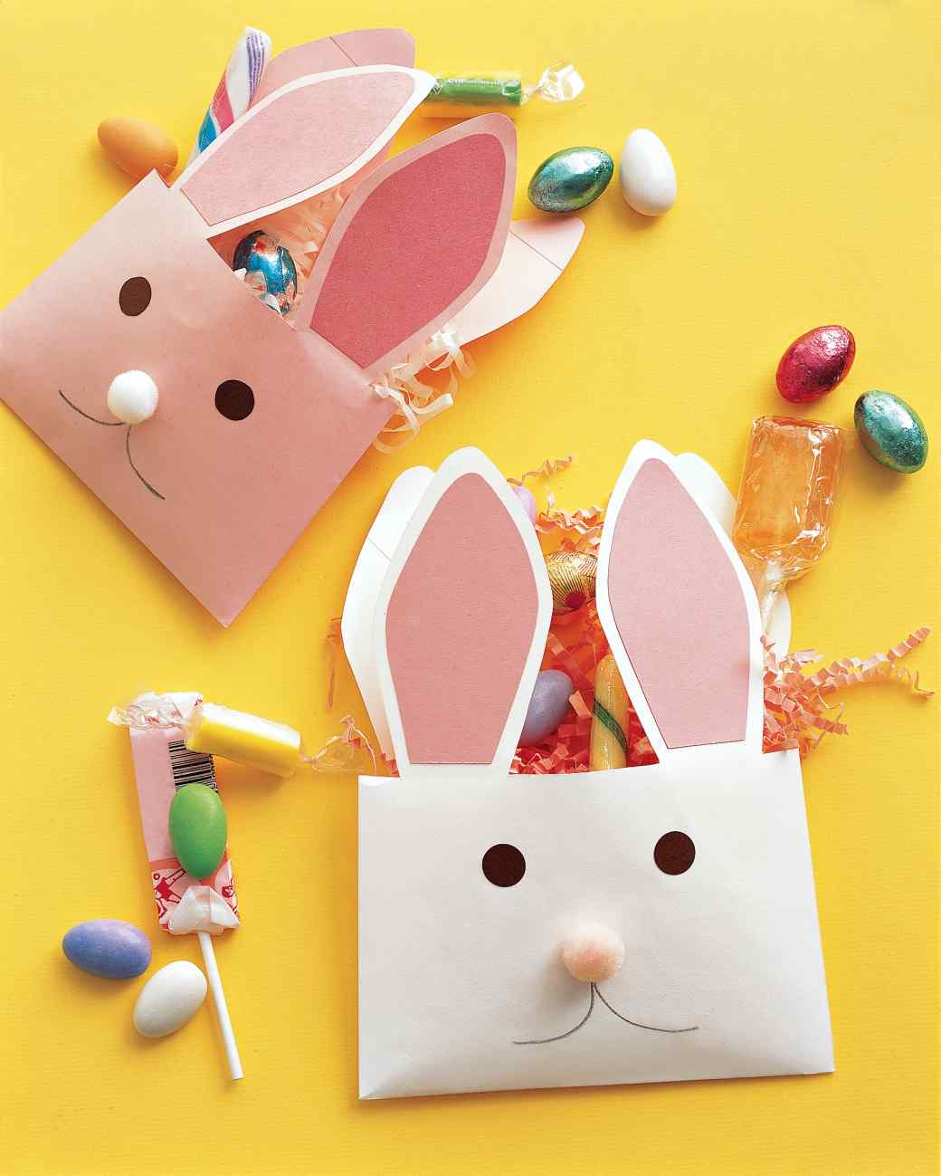 envelope bunnies Baby Easter craft ideas
