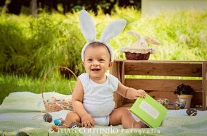 Baby's first Easter activities photo shoot