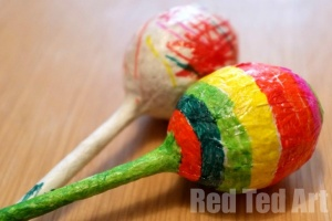 Fun Maracas Craft for Kids, Baby Easter craft ideas
