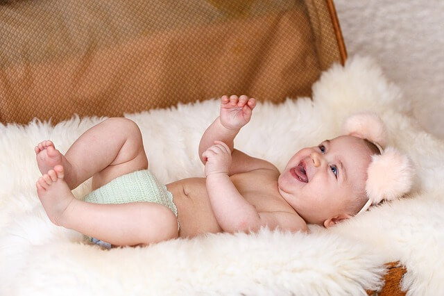 photo of baby laughing