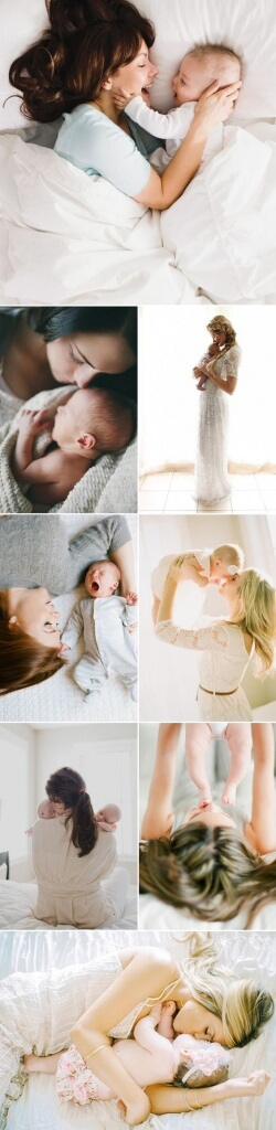 newborn photos with mama