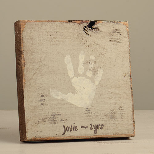 handprint plaque model for mother's day gift