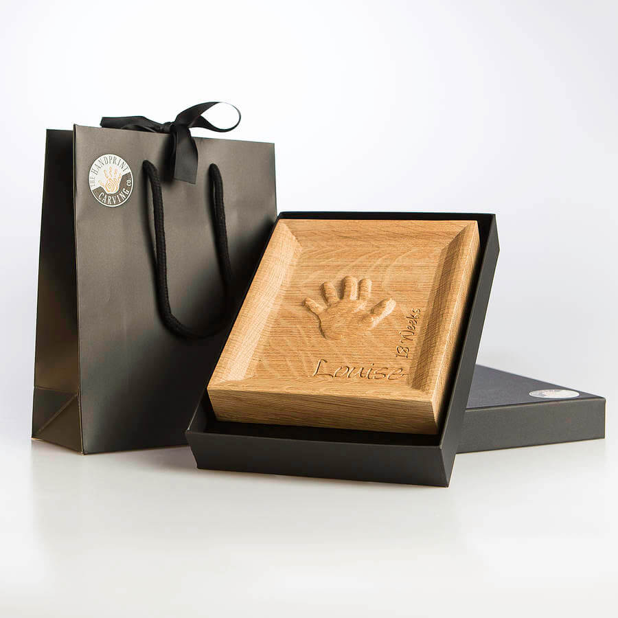 olid oak baby handprint keepsake for mother's day gift