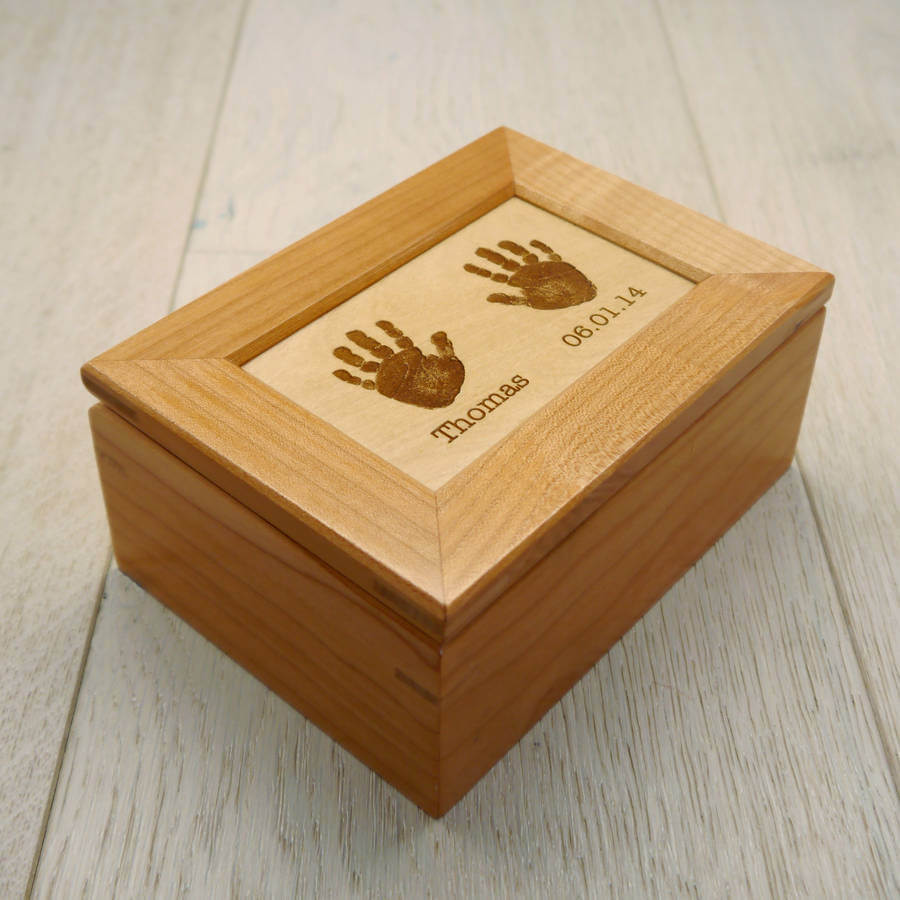 keepsake hand print box for mother's day gift