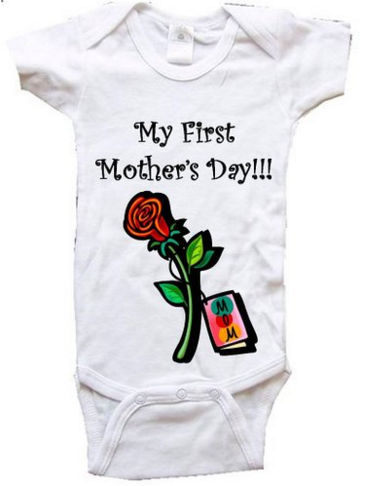 My first Mother's Day One Piece Bodysuit