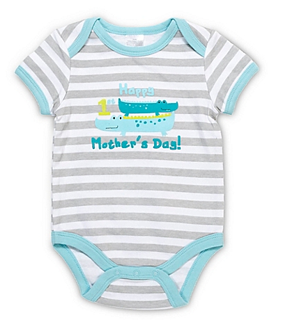 striped baby onsie fir Mother's Day outfits