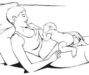 lactation consultant, laid-back breastfeeding