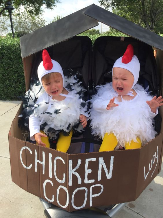 chickens cute halloween costumes for baby twins