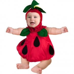 strawberry halloween costume for a newborn baby