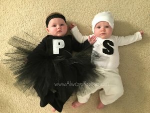 Babies Twins Halloween Costumes Salt Pepper Funny Boy Girl Fraternal Siblings AlwaysKatie blog