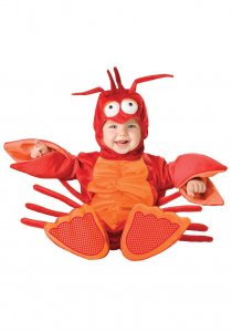 baby lobseter halloween costume for a newborn baby