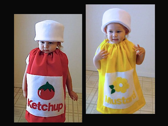 Condiments cute halloween costumes for baby twins