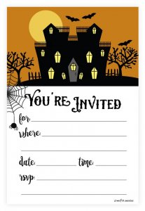 Halloween Invites for baby birthday party