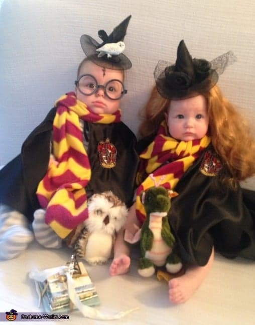 Harry-Potter-Hermione-Granger cute halloween costumes for baby twins