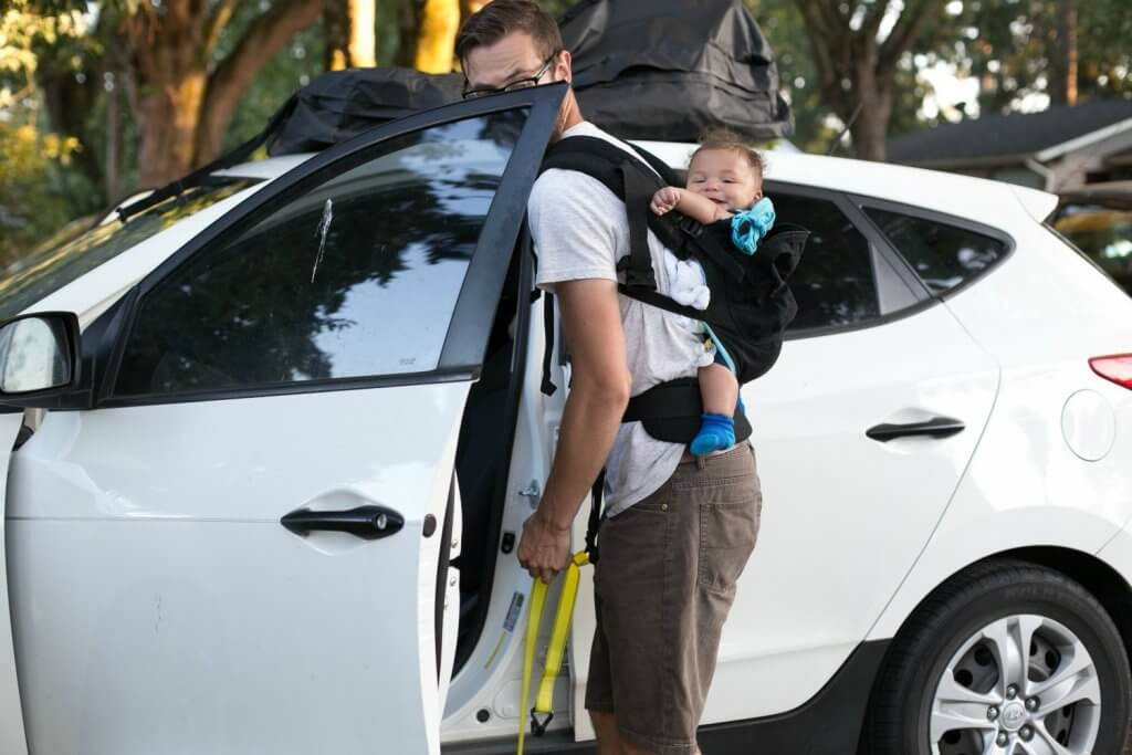 baby carrier is another essential for camping with a baby