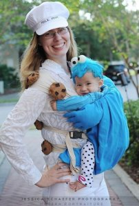 milk mom and cookie monster DIY halloween costume