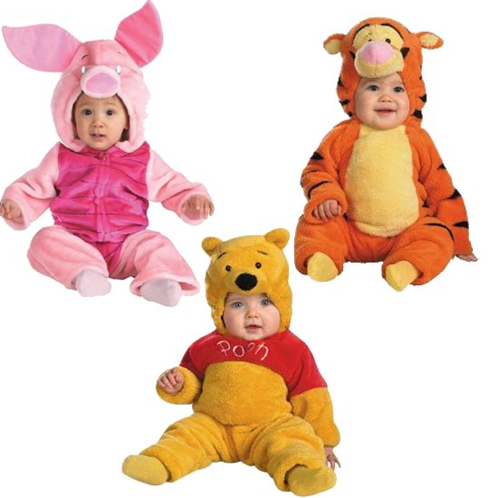 Pooh-Friends cute halloween costumes for baby twins