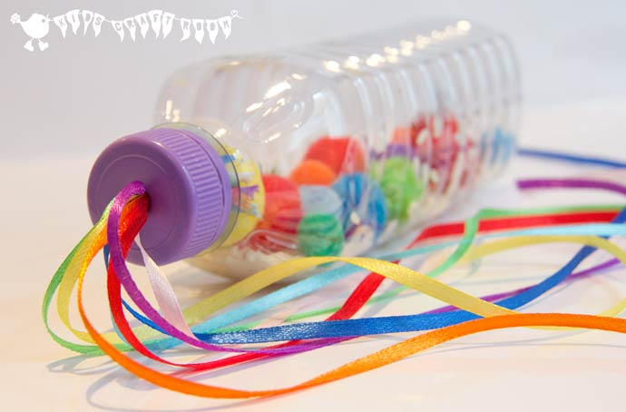 DIY RAINBOW SENSORY BOTTLE/MUSIC SHAKER