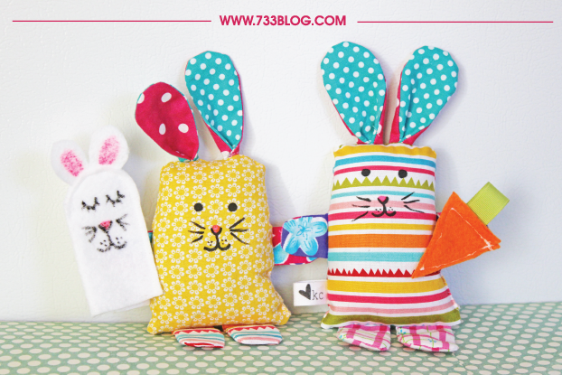 DIY SCRAP FABRIC BUNNY