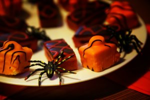 party food for halloween baby birthday party