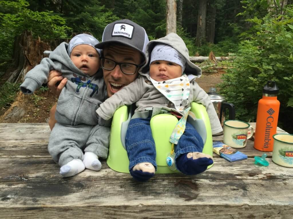 sitting with babies while camping
