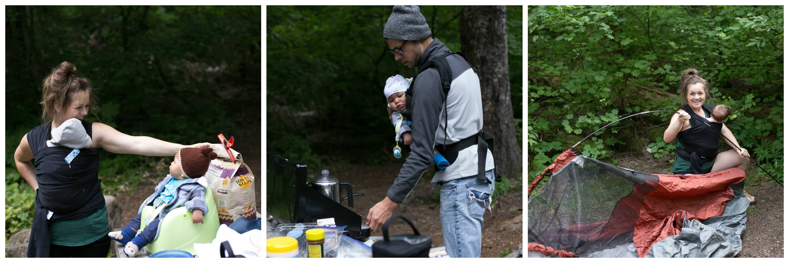 essentials for camping with a baby