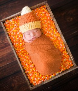 candy corn bunting halloween costume for newborn