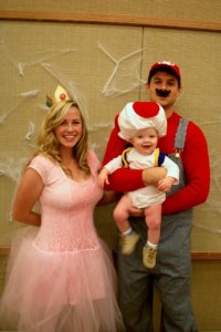 princes peach Halloween Costume for Mom and Baby