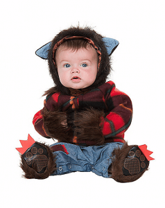 warewolf halloween costume for a newborn baby