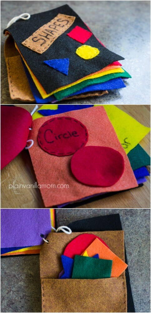 DIY FELT BOOK OF SHAPES