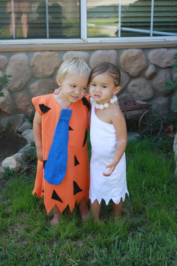 flintstones cute halloween costumes for baby twins