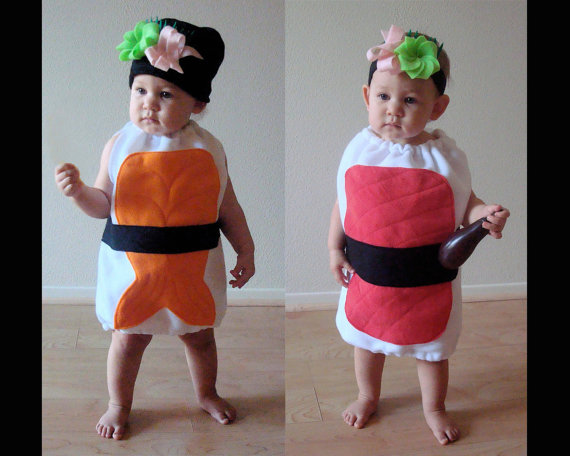 sushi cute halloween costumes for baby twins