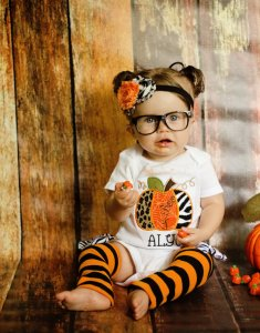 pumpkin halloween costume for baby