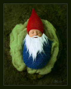 Gnome bunting halloween costume for a newborn baby