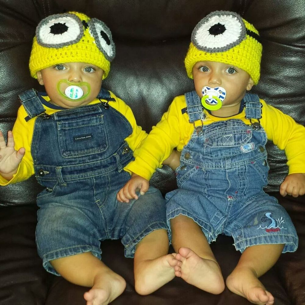 minions cute halloween costumes for baby twins