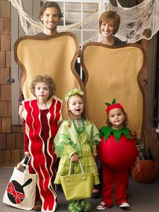 blt sandwhich Halloween Costume for Mom and Baby