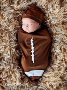 Football bunting halloween costume for newborns
