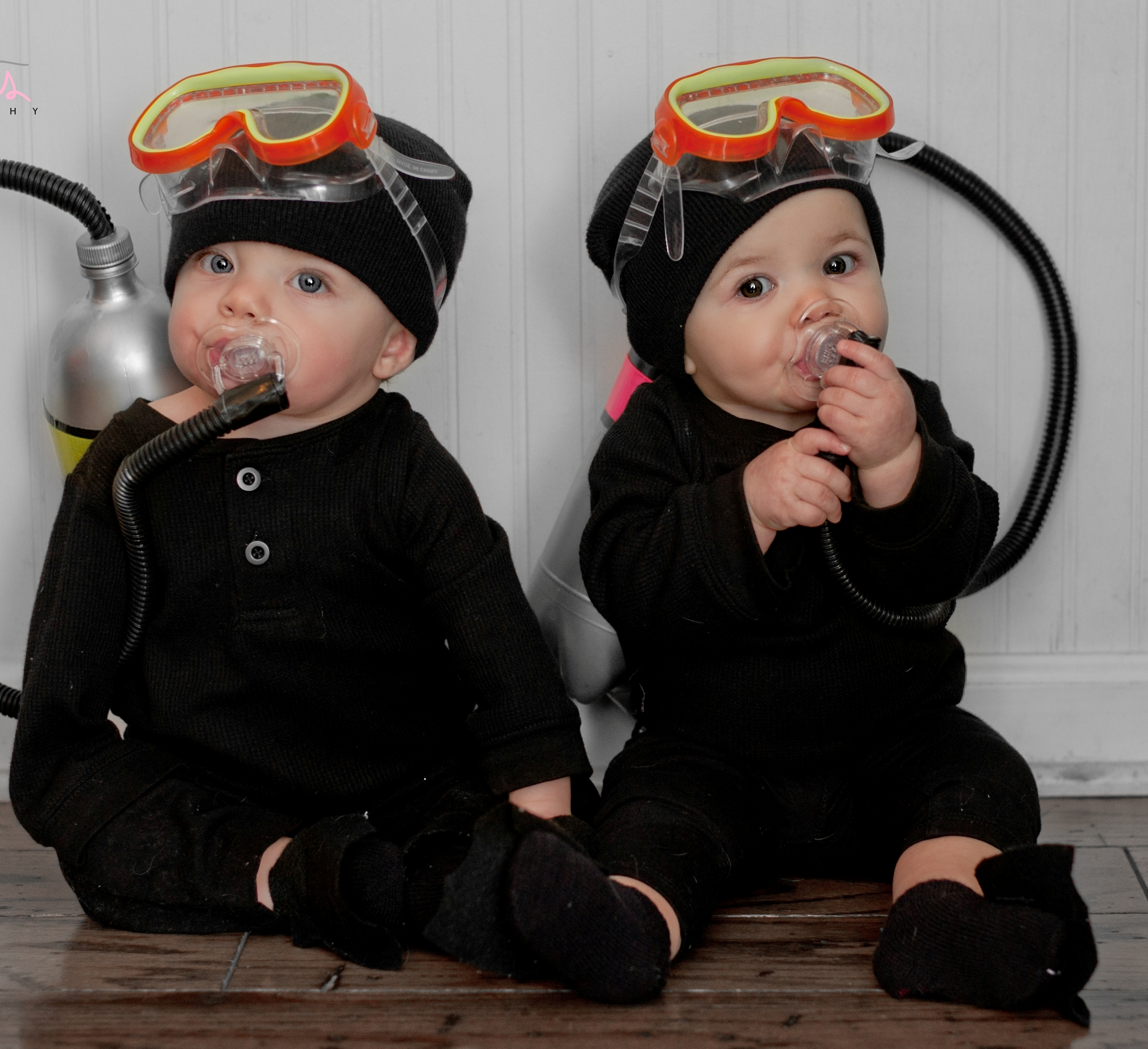 scuba divers cute halloween costumes for baby twins
