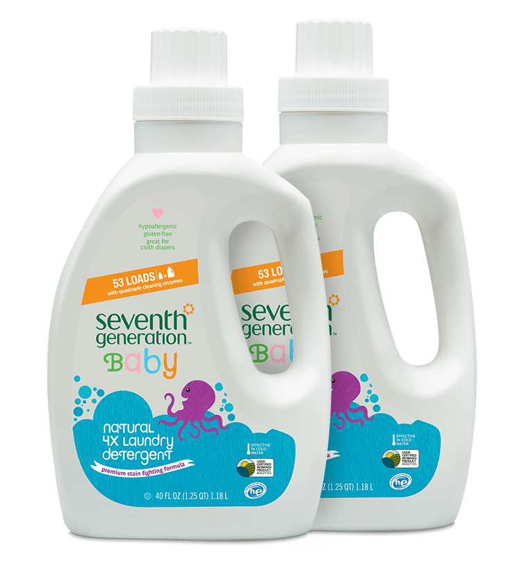 Seventh Generation laundry detergent for cloth diapers