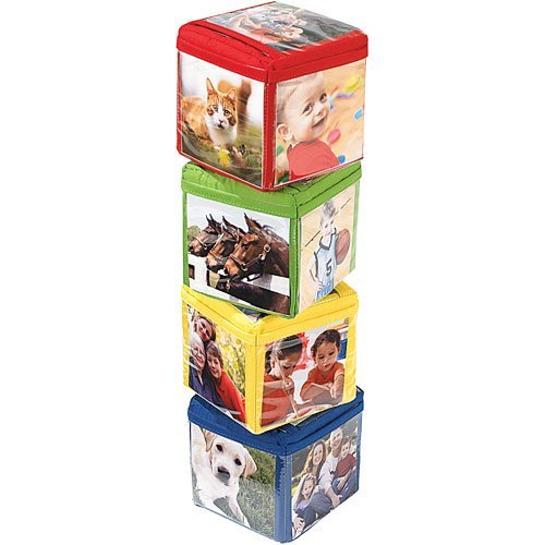 Stack and Smile Photo Blocks baby learning toy