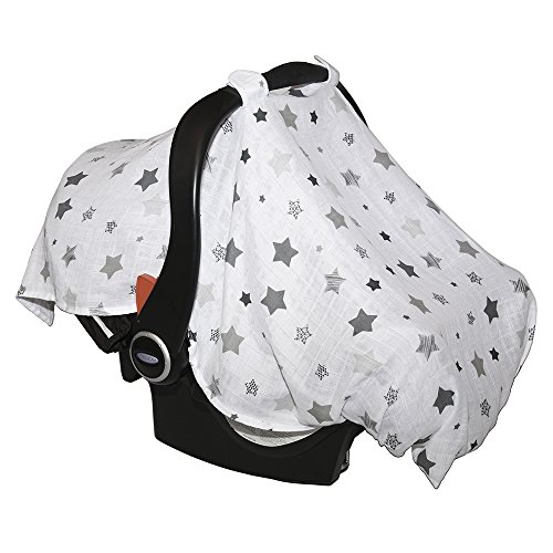 Barnaby Belle 'Night' Baby Car Seat Covers, Girls or Boys Infant Carseat Canopy Cover