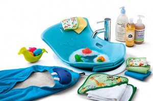 Baby bathtub set